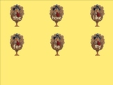 Find the Turkey Sight Word Practice