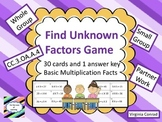 Unknown Factors Game--CC.3.OA.A.4