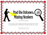 Find the Unknown: Missing Numbers
