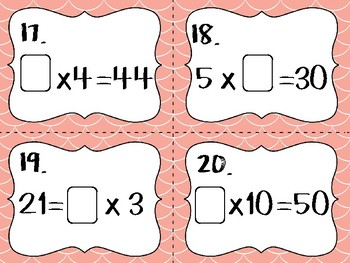 Find the Unknown!- with multiplication and division