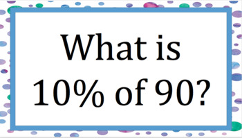 Find the Percent of a Value Bingo
