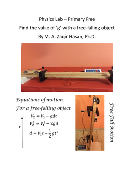 Find the Value of g for a free-falling object