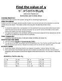 Find the Value of x Game Puzzle with Worksheet