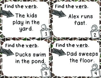 Find the Verbs Task Cards
