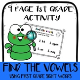 Find the Vowels! First grade sight words