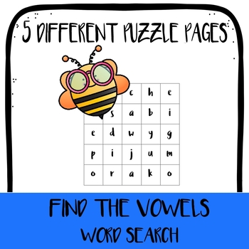 Find the Vowels! Vowel Search Puzzles