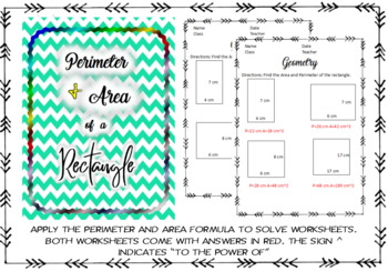 Find the area & perimeter on rectangles