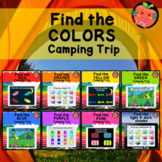 Find the camping colors with audio   Boom cards bundle