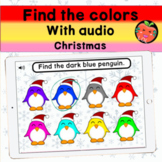 Find the colors of Christmas with audio   Boom cards bundle
