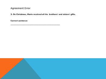 Find the error! PPT Presentation
