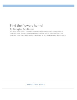 Find the flowers home!