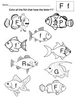 Find the letter F in the Fish
