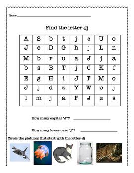 Find the letter Jj