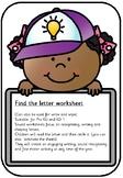 Find the letter work sheet