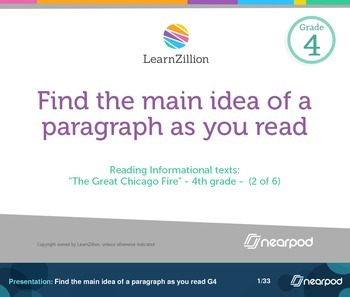 Find the main idea of a paragraph as you read G4