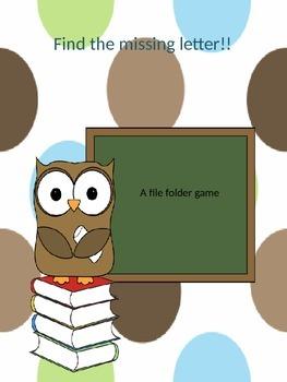 Find the missing letter file folder game