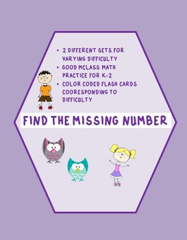 Find the missing number MCLASS math practice cards