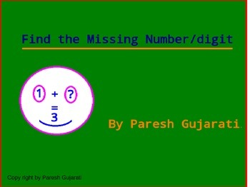 Find the missing number for addition subtraction and multi