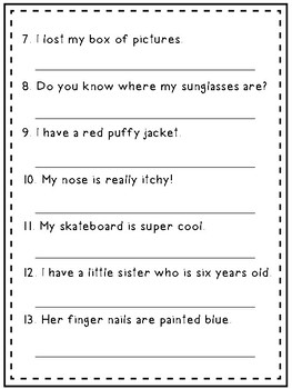 Find the noun, write it down!