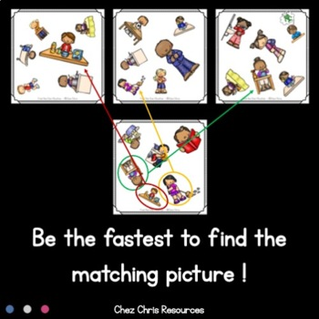 Find the One !   Action verbs : Routine + Flashcards