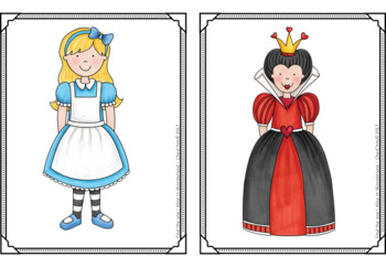 Find the one !  Alice in Wonderland  + flashcards