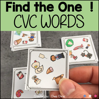 Find the one !  CVC Words + flashcards