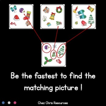 Find the one !  Christmas - Winter + flashcards