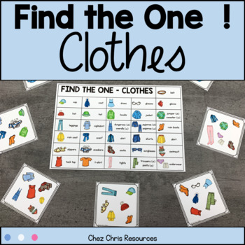 Vocabulary Game - Find the one ! - Clothes and Clothing Items
