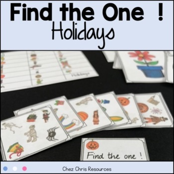 Find the one !   Festivities  + flashcards