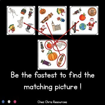 Find the one !  Holidays  + flashcards