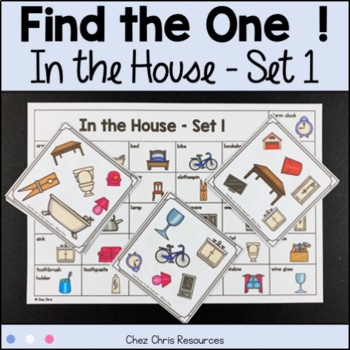Find the one !  In the house (set 1) + flashcards