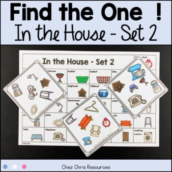 Find the one !  In the house (set 2) + flashcards