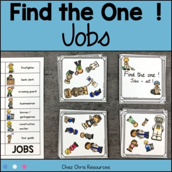Find the one !  Jobs (set 1) + flashcards