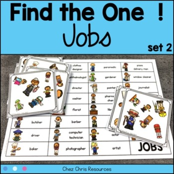 Find the one !  Jobs (set 2) + flashcards