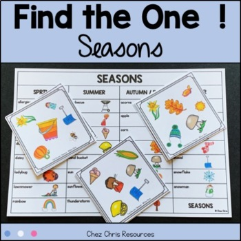 Find the one !  Seasons  + flashcards