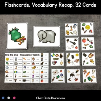 Find the one !  Transparent Words (French - English) + flashcards