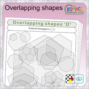 Overlapping shapes (20 Visual perception sheets)