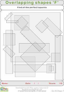 Overlapping shapes (20 distance learning worksheets for Visual perception)
