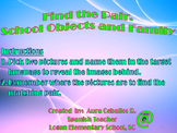 Find the pair. Speaking about School Objects and Family