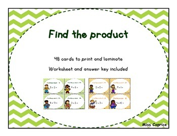 Find the product - 3rd an 4th grade