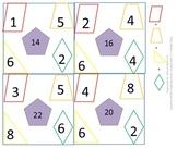 1st gr & 2nd gr Math Calendar - Find the rule, 2D shapes, fact families