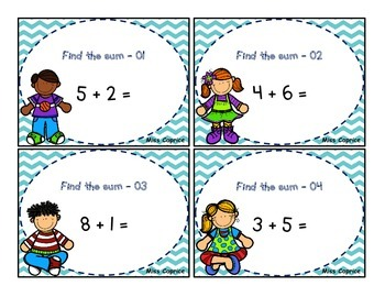 Find the sum - 1rst and 2nd grade