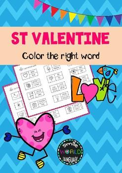 Find the word St Valentine ENGLISH