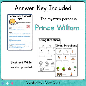 Find who the mystery person is! Complete back to school lesson - 8th grade