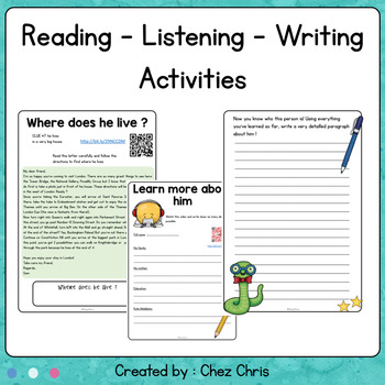 The Mystery Person : reading - writing - listening engaging activities