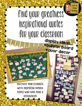 Find your Greatness Inspirational Quotes- Display Idea