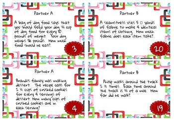 Find your Partner! Division of Fractions and Mixed Numbers Game