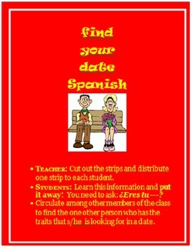 Find your date SPANISH