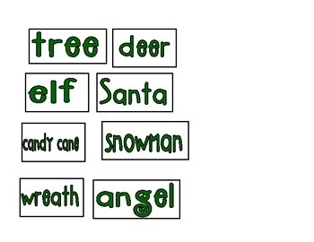 Find and Spell Christmas Picture Mat