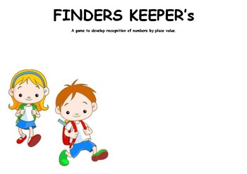 Finder's Keepers Place Value Game